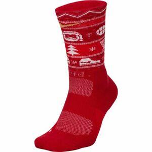 Nike Elite Crew Basketball Socks Christmas 2019 SX7866 Holiday Gym Training XL