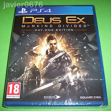 DEUS EX MANKIND DIVIDED NUEVO PRECINTADO PAL ESPAÑA PLAYSTATION 4 PS4
