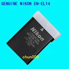 Genuine Original Nikon EN-EL14 Battery For D5100 D3200 P7000 P7100 P7700 MH-24