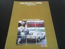 Vauxhall Opel Voitures Diesel Brochure 1983 Astra Cavalier Carlton V5092