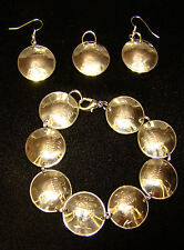 Chalice BRACELET EARRINGS of Israel Israeli 1 Sheqel Shekel coins JEWELRY