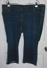 Old Navy Blue Jean Skinny Capris 20 Plus Cotton Poly Spandex Blend Stretchy