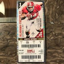 2017 Alabama vs Fresno State Ticket Stub DA'RON PAYNE 09/09/2017 NM+ 358 1 4