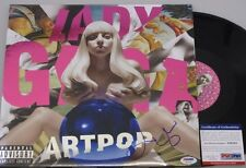 LADY GAGA Hand Signed ARTPOP LP + PSA DNA COA **BUY 100% Genuine GAGA**
