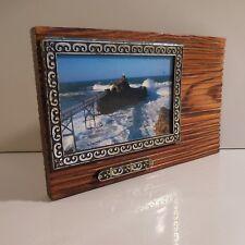 Cadre photographie porte-clés bois fait main art déco vintage PN France N3052