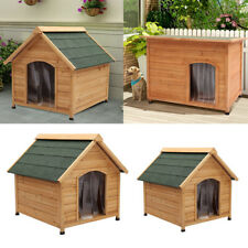 Insulated Large Dog Kennel Pet Puppy Garden Wooden House Weather Proof Shelter