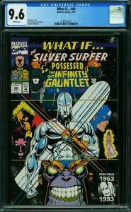 WHAT IF 49  CGC 9.6 WHITE PAGES SILVER SURFER INFINITY GAUNTLET A1