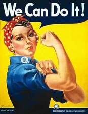 Rosie the Riveter We Can Do It War Propaganda Poster 24x36