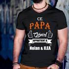 """Tee-Shirt personnalisé """"Ce papa génial appartient à prénom de enfant"""""""