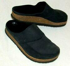Haflinger LL Bean Blue Leather Slip On Clogs Slides Mules 39 Women's 9 US Shoes