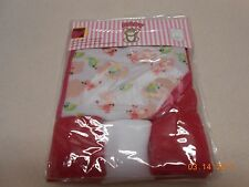 NEW BABY GIRL HOODED BATH TOWEL & LOT 3 WASH CLOTHS BIRDS DESIGN FREE SHIP NIP