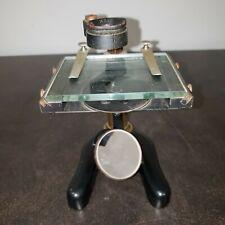 Vintage Ernst Leitz Wetzlar Microscope 10x Eyepiece - Brass & Cast Metal