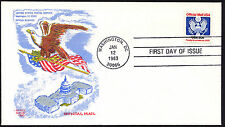 O135 20c Official Mail Stamp FDC Doris Gold Cachet