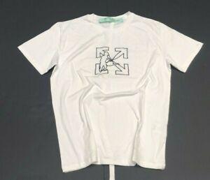 Off White L   T-Shirt mit Logo  -  M  *  Weiß  # X #