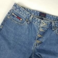 Tommy Hilfiger Mom Jean Size 9 Blue Button Fly Roc Roc High Waisted 100% Cotton