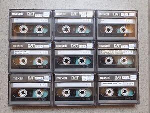 9 x DAT MAXELL Kassette DM 120 Metal 120 Min Sammlung Cassette Tape BACK COATED