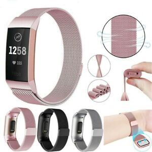 For Fitbit Charge 4 /Charge 3 Strap Milanese Wrist Band Stainless Steel Magnetic
