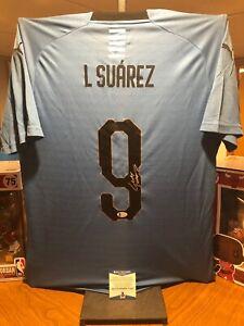 Luis Suarez Autographed Uruguay Puma Jersey