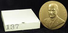 "U.S. Mint Medal No. 137 President Lyndon B. Johnson Second Term 3"" Bronze"