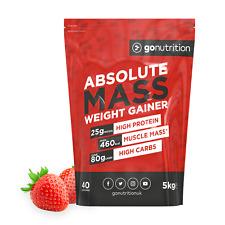 Masse absolue Gainer 5 kg Gain De Poids Poudre de Protéine Muscle shake Fraise