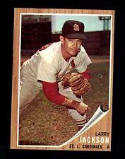 1962 Topps Larry Jackson #83 ST Louis Cardinals EM CREASE FREE SET BREAK