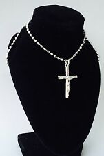 "Necklace 18"" Ladies Silver Crucifix"