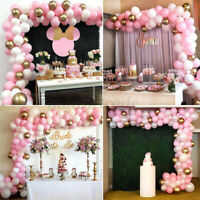 117 Pcs Balloons+Balloon Arch Kit Set Chrome Macaron Wedding Garland Party  E