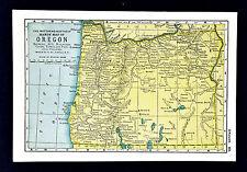 1900 Mathews-Northrup Handy Map - Oregon - Salem Portland Eugene Klamath Falls