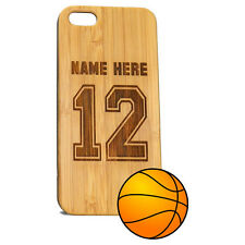 Custom Basketball BAMBOO Case for iPhone 7 phones Personalized Wood Jersey Cover