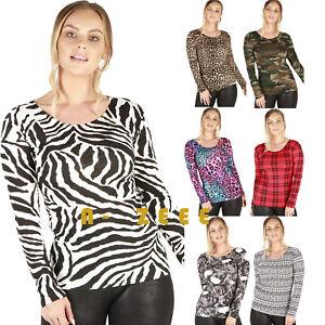 Tops Ladies T Blouse Women' Printed long Sleeve Uk Shirt Casual Long Shirts Plus