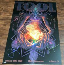 Tool Band Signed Atlanta Tour Poster January 28 2020 /850 Mark Brooks Boston