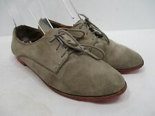 "DC by DOLCE VITA ""Mini"" Gray Suede Lace Up Pink Sole Oxford Sz 7.5M GUC!!!"