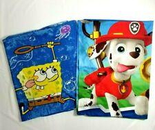 Nickelodeon Lot of 2 Pillowcase Spongebob Paw Patrol Marshall and Chase E101