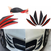 6X Universal Carbon Fiber Color Car Front Bumper Fins Spoiler Refit Accessories