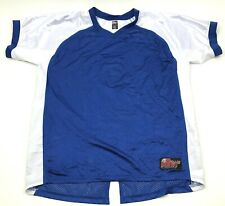 NEW Battle Gear Paintball Jersey Size Large L Blue White Short Sleeve Relaxed