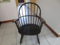 Antique Crocker Chair Company Windsor Rocker Sheboygan Wisconsin Rocking Chair