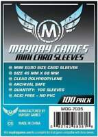 MAYDAY GAMES Mini European Board Game Card Sleeves Clear Size 45 x 68mm 100ct