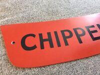 "Vintage Bus Coach Metal Destination / Price A-Board Sign Plate ""Chippenham"""