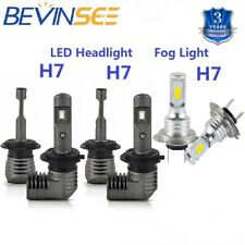 Bevinsee 6x H7 For Mercedes-Benz LED Headlight High / Low Fog Light Combo Bulbs