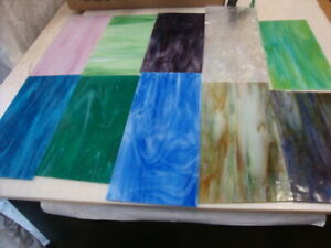 """10 Pcs. Of Premium Stained Glass 4"""" By 7"""" In Size"""