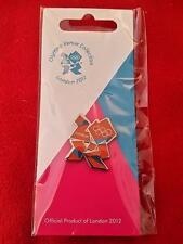 Jeux olympiques de londres 2012 orange & bleu logo pin-nouveau et cardés