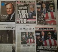 12/6/18 New York Times Daily News New York Post George HW Bush Funeral 1924-2018
