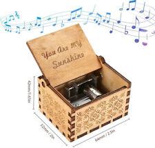 Music Box You are My Sunshine Theme,Wooden Classic Music Box Crafts w Hand Crank