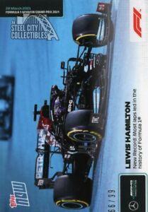 Lewis Hamilton 2021 Topps Now Formula 1 F1 #1 Blue Parallel 66/99