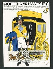 BRD MK 1985 MOPHILA PFERD HORSE CHEVAL MAXIMUMKARTE MAXIMUM CARD MC CM d2180