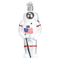 """Astronaut"" (24182)X Old World Christmas Glass Ornament w/ OWC Box"