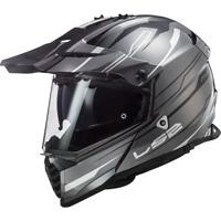 LS2 MX436 PIONEER EVO  MOTORCYCLE DUAL VISOR SPORT ADVENTURE HELMET KNIGHT WHITE