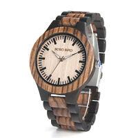 Bobo bird N28N30 Klassisch voll wood Handgelenk Uhren Uhrarmband Quarz paar