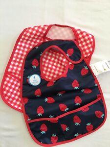 NEW Carter's Baby Girls 2-Pack Feeding Bibs Strawberry