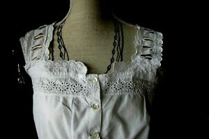 ANCIEN CARACO/CACHE.CORSET. BRODERIE ANGLAISE